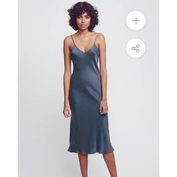 afe971380f3fe Silk Laundry Slip Dress in Smoke XS